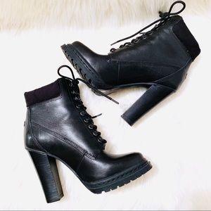 BCBG Leather Maude Bootie